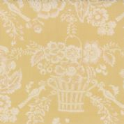 Moda Le Bouquet Francais by French General - 3212 - Cream Coquelicot on Butter Yellow 13661 21